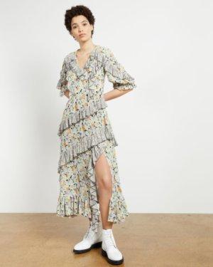 Asymetric Ruffle Dress
