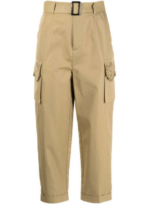 BAPY BY *A BATHING APE® belted cropped trousers - Brown