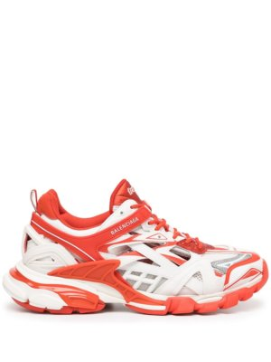Balenciaga Track.2 low-top sneakers - 9061 WHITE/RED/GREY