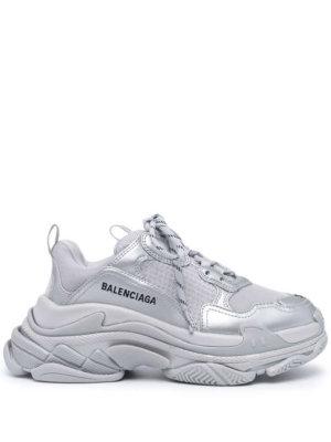 Balenciaga Triple S metallic sneakers - Grey