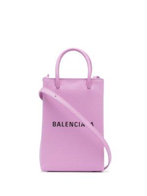 Balenciaga logo-print mini bag - Purple