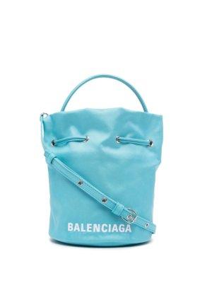 Balenciaga mini Wheel bucket bag - Blue
