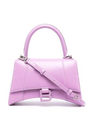 Balenciaga small Hourglass top-handle bag - Purple