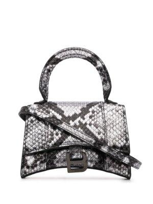 Balenciaga snakeskin-effect mini bag - Black