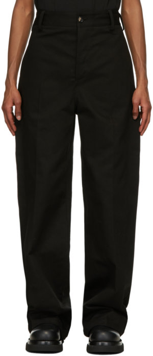 Bottega Veneta Black Chino Trousers