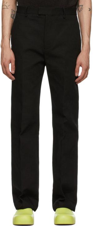 Bottega Veneta Black Faille Trousers
