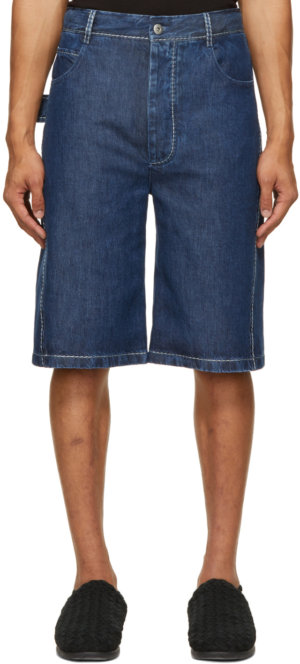 Bottega Veneta Blue Padded Fluid Shorts