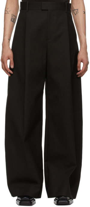 Bottega Veneta Brown Double Pleat Trousers