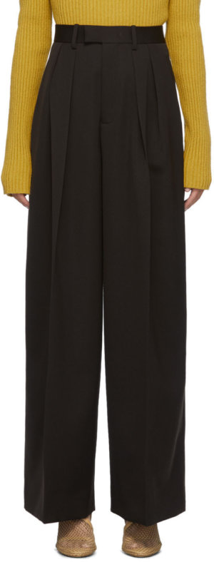 Bottega Veneta Brown Pleated Trousers
