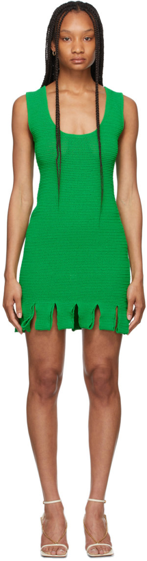 Bottega Veneta Green Rib Knit Dress