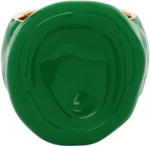 Bottega Veneta Green & Gold Wax Ring