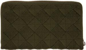 Bottega Veneta Khaki Intrecciato Zip-Around Wallet