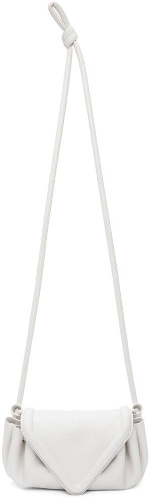Bottega Veneta Off-White Small Beak Clutch
