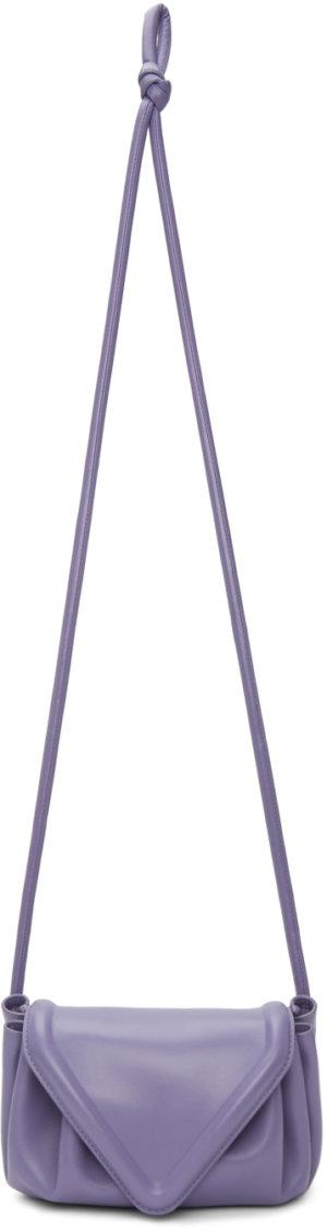Bottega Veneta Purple Small Beak Clutch