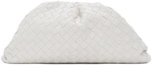 Bottega Veneta White Intrecciato 'The Pouch' Clutch
