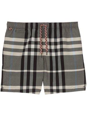 Burberry checked swim shorts - Neutrals