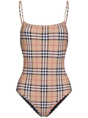 Burberry vintage check swimsuit - Neutrals