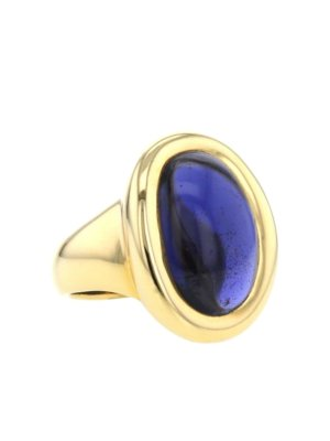 Cartier 1994 pre-owned 18kt yellow gold Baignoire ring - Gold,purple