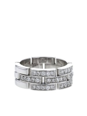 Cartier 2010s pre-owned white gold Maillon Panthère diamond ring