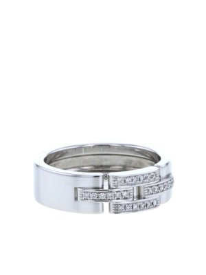 Cartier pre-owned 18kt white gold diamond Maillon Panthère ring