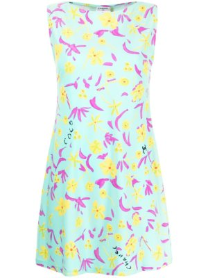 Chanel Pre-Owned 1997 floral sleeveless dress - Blue