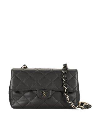 Chanel Pre-Owned 2000-2002 CC Logos Plastic Chain Shoulder Bag - Black