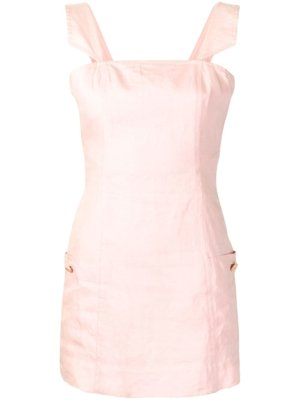 Chanel Pre-Owned sleeveless square neck mini dress - Pink