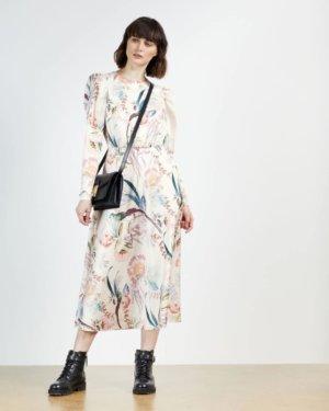 Decadence Puff Sleeve Midi Dress