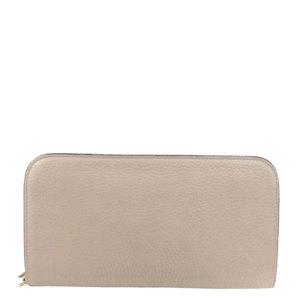 Dior Beige Leather Voyageur Continental Wallet