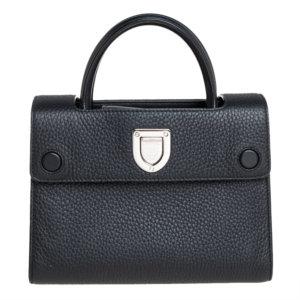 Dior Black Pebbled Leather Mini Diorever Tote