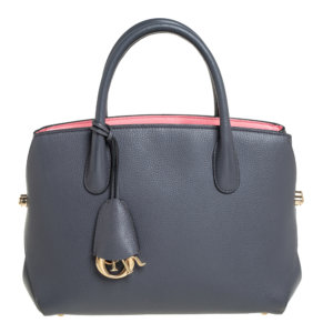 Dior Grey/Pink Leather Open Bar Tote
