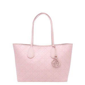 Dior Pink Cannage Leather Panarea Tote Bag