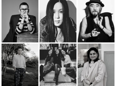collage of emerging asian designers