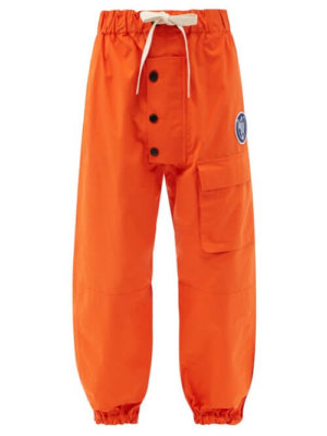 Eye/loewe/nature - Drawstring-waist Cotton Cargo Trousers - Mens - Orange