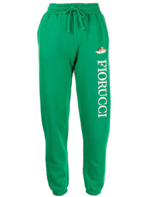 Fiorucci Angels embroidered-logo track pants - Green