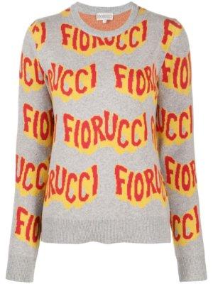 Fiorucci Wavy logo jumper - Grey