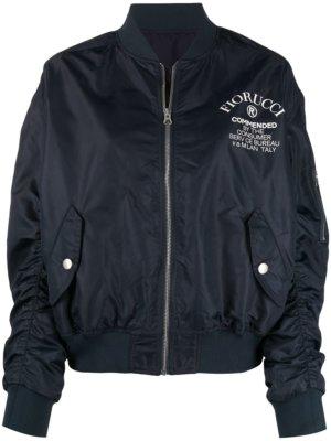 Fiorucci logo-print bomber jacket - Blue