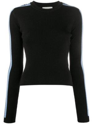 Fiorucci side-stripe ribbed-knit jumper - Black