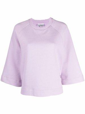 GANNI Isoli raglan-sleeve sweatshirt - Pink