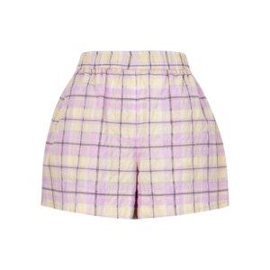 Ganni Checked Seersucker Shorts