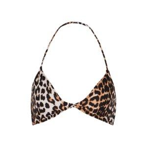 Ganni Leopard-print Halterneck Bikini Top