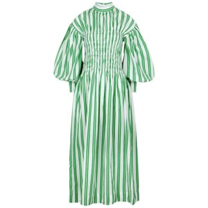 Ganni Striped Cotton Maxi Dress