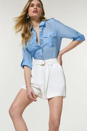 Karen Millen Linen Viscose Short -, White