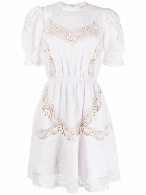 Michael Michael Kors broderie anglaise floral-embroidered dress - White