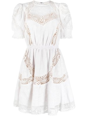 Michael Michael Kors embroidered short dress - White