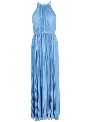 Michael Michael Kors halterneck pleated maxi dress - Blue