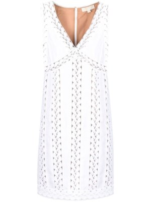 Michael Michael Kors lace-trim sleeveless dress - White