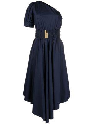 Michael Michael Kors one-shoulder belted dress - Blue