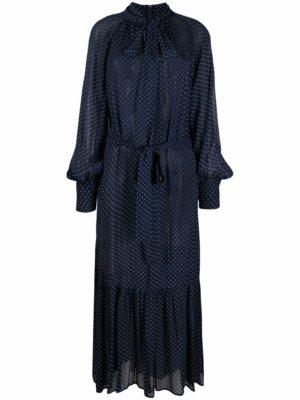 Michael Michael Kors polka dot-print maxi dress - Blue