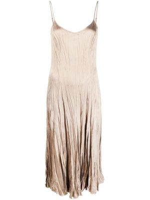 Michael Michael Kors spaghetti strap slip dress - Neutrals